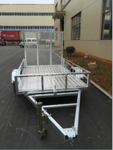 8X5 Hot Dipped Galvanized Tilt ATV Trailer with Aluminum Floor pictures & photos