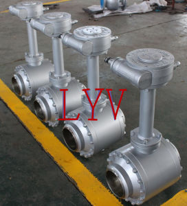 Worm Gear Welded Ball Valve with Extension Stem