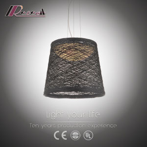 Decorative Black Rattan Pendant Light for Dining Room pictures & photos