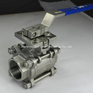 3PC Female Threaded Ball Valve with ISO5211 Mounting Pad pictures & photos