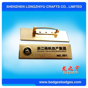 Aluminum Stamping Degital Name Plate Badge From China pictures & photos