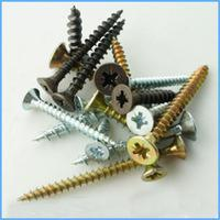 DIN7505 Black/Yellow Zinc Plated Self-Tapping Screws pictures & photos