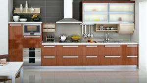 Chipped Board with Melamine Surface Kitchen Furnitures pictures & photos
