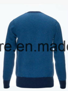 Men Long Sleeve Top Grade Pure Cashmere Sweater with Triangle Pattern pictures & photos