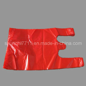 Plastic Red Vest Shopping Bag pictures & photos