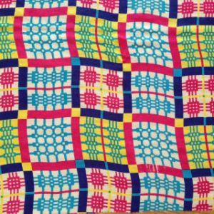 Printed Silk Wool Mesh and Silk Rayon Chiffon