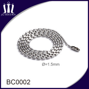 High Quality 1.5mm Stainless Steel Beaded Chain in Color for Sale pictures & photos