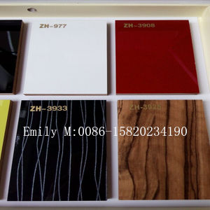 1220*2440*18mm High Glossy UV Sheet for Kitchen Furniture (ZH factory) pictures & photos