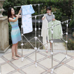 Stainless Steel Three-Rod Clothes Hanger pictures & photos