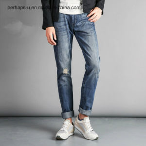 Fashion Clothing Men′s Casual Ripped Jeans pictures & photos
