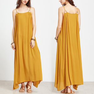 Fashion Women Preppy Style Leisure Casual Loose Slip Dress pictures & photos