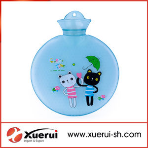 Populare Round Colorful PVC Hot Water Bottle pictures & photos