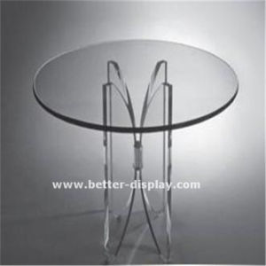 Acrylic White Coffee Table (BTR-Q1022) pictures & photos