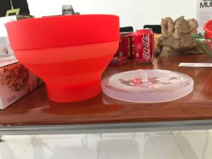 Home-Made Popcorn Maker Container, Plastic Silicone Bowl, Popcorn Container pictures & photos