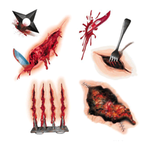 Wound Temporary Tattoo Water Transfer Tattoo Sticker Art Tattoo pictures & photos