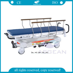 AG-HS001 Hot Sale Advanced Hospital Hydraulic Transfer Stretcher Dimensions pictures & photos