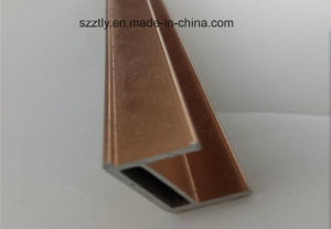 6063 Brushing Anodised Aluminium Extruded Profile pictures & photos