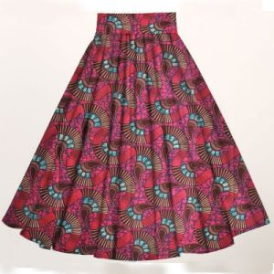 African Print Women Maxi Skirts Ankara Cotton Fabric pictures & photos