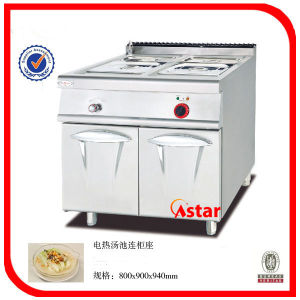 Electric Bain Marie with Cabinet Ck01070011 pictures & photos