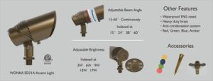 12V LED Power Beam Angle Adjustable ETL Outdoor Accent up Down Light Brass Fixture pictures & photos