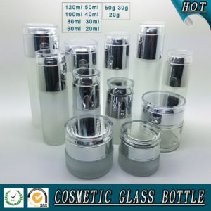 Frosted Glass Bottles and Cream Jars Guangzhou Glass Bottle Cosmetic Packaging pictures & photos