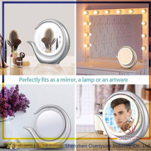 Professional Lighting Makeup Mirrors Round Desktop Lighted 1X/7X Magnify with LED Light pictures & photos