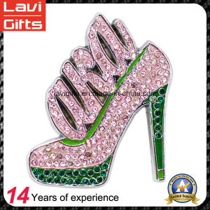 Hot Selling Custom Metal Type Shoe Lapel Pin with Crystal pictures & photos