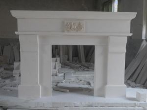 Beige Marble Fireplace for Living Room/Indoor Decoration pictures & photos