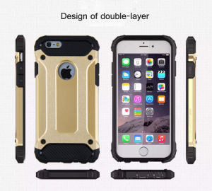 Super Steel Metal Armour Hybrid TPU+PC Cell Phone Case for iPhone 6/6 Plus