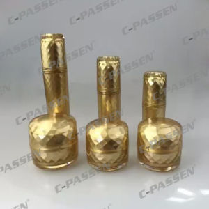 New Arrival Luxury Gold Acrylic Cosmtic Bottle & Jar for Cosmetic Packaging (PPC-CPS-074) pictures & photos