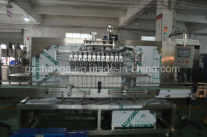 Food Grade Auto Olive Oil Filling Stoppering Capping Labeling Shrinking Line pictures & photos