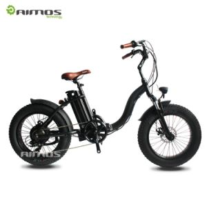 Lady Style Snow Electric Bike with 4.0 Fat Tire for Cruiser pictures & photos