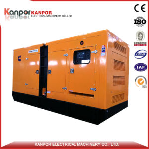 400kVA Doosan Diesel Silent Generator Set with Soundproof Weatherproof Enclosure pictures & photos