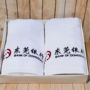 China Export 21s Cotton Terry Plain White Hotel Towels pictures & photos