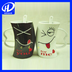 Heart Shaped Couple Mug, Ceramic Mug, Coffee Mug pictures & photos