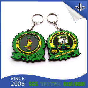 Custom Logo Wholesale Cheap PVC Keychain pictures & photos