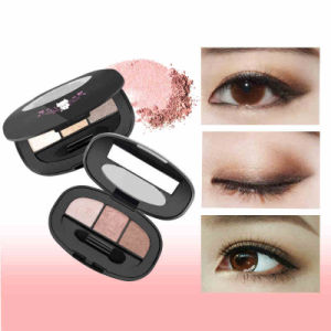 3 Colors Eyeshadow Long Lasting Makeup Palette Metal Naked Nude Eye Shadow Es0326 pictures & photos