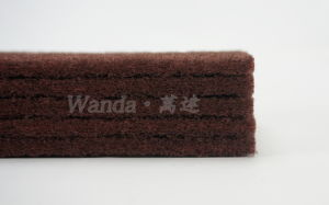 Home Kitchen Abrasive Red-Brown Nylon Scouring Pad Cleaning Pad pictures & photos