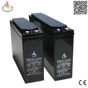 Front Terminal 12V 100ah Lead Acid Rechargeable Battery for Solar/UPS pictures & photos