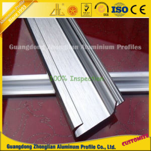Brushed Aluminium Extrusion Profiles for Cupboard/Cabinet/Wardrobe Handle Making pictures & photos