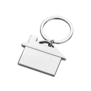 Promotional Customized Printing Laser Engrave Logo House Shaped Keychain (F1098D) pictures & photos