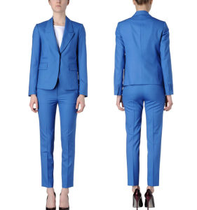 High Quality Classic Business Women Blue Office Ladies Suits pictures & photos