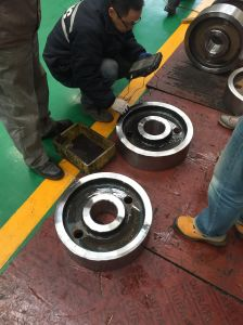 Forged 4140 Quenching and Tempering Wheel for Crane pictures & photos
