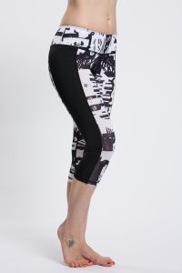 Women Gym Wear Capris, Wholesale Custom Logo Printed Leggings pictures & photos