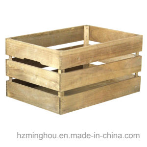 Stackable Antique Style Wooden Crate Decorative Shelving Storage Box pictures & photos