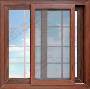 Energy-Saving Woodgrain UPVC/PVC Sliding Window (BHP-SW05) pictures & photos