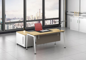 White Customized Metal Steel Office Staff Table Frame with Ht09-1 pictures & photos