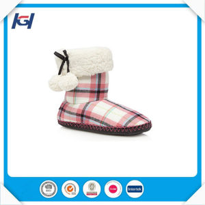 Fashion Cute Red Reindeer Indoor Winter Boots for Women pictures & photos