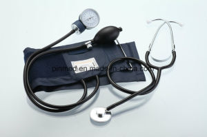 Standard Sphygmomanometer with Attached Single Head Stethoscope pictures & photos
