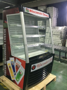Beverage Cooler Multideck Open Chiller for Supermarket Equipment pictures & photos